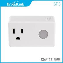 BroadLink US standard Mini Size SP3 Wi-Fi Smart Socket Timing Plug for smart home automation system White (SP3-US)