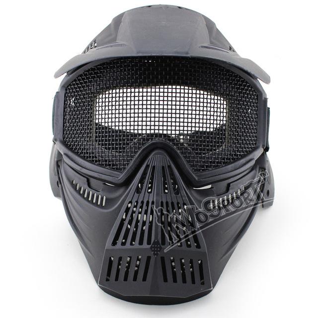 Máscara de paintball CS 3 de protección del color alambre de malla táctico máscara de granular material de protección contra impactos fresco máscaras