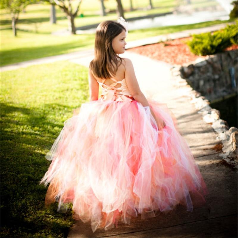 5b8526719e 2 13Y Hot Sale Elegant Tulle Dress Satin Corset Bodice Baby Girl Tutu Dress  Kids Prom Wedding Party Festival Birthday Dresses-in Dresses from Mother    Kids ...
