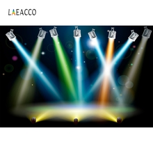 Laeacco Colorful Light Bokeh Beam Stage Baby Portrait Photography Backgrounds Customized Photographic Backdrop For Photo Studio