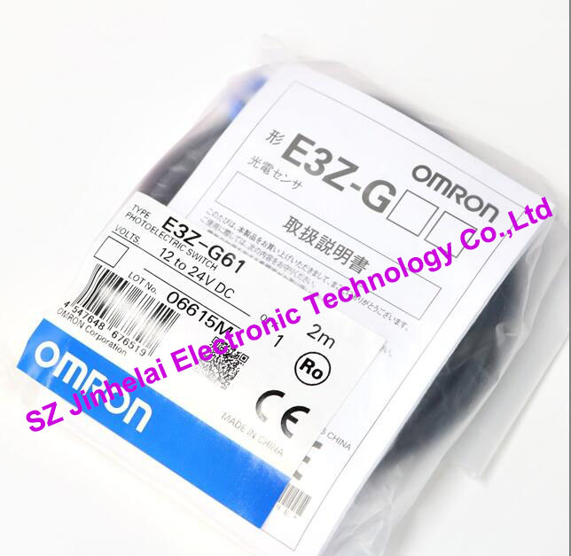 100%New and original  E3Z-G61  OMRON Photoelectric switch  12-24VDC  2M [zob] new original omron omron photoelectric switch e3s at11 2m e3r 5e4 2m