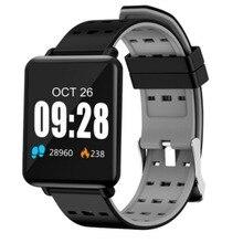 Pantalla a Color pulsera inteligente pasos Fitness Tracker monitoreo del sueño pulsera inteligente impermeable para iPhone 8 Xiaomi 6 PK mi 3
