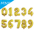 30 Inch Foil Balloons Gold Sliver Number Balloons For Wedding Happy Birthday Party Decoration Dressed