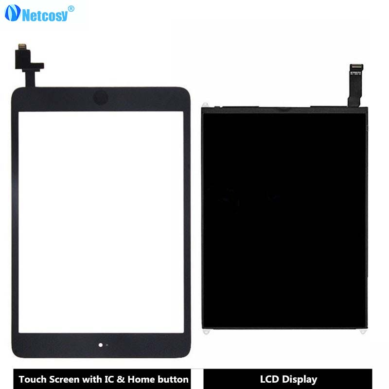 Netcosy For ipad mini 1 Touch Screen Digitizer panel & LCD Display Screen Repair Parts For ipad mini 1 A1432 A1454 A1455