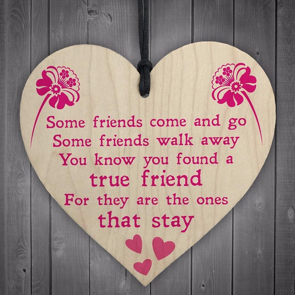 Meijiafei True Friend Poem Friendship Best Friends Gift Hanging ...
