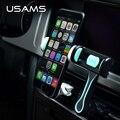 Usams universal 360 grados de rotación del sostenedor del coche para iphone 7 7 plus 5S 6 ipad samsung xiaomi air vent mount teléfono móvil titular