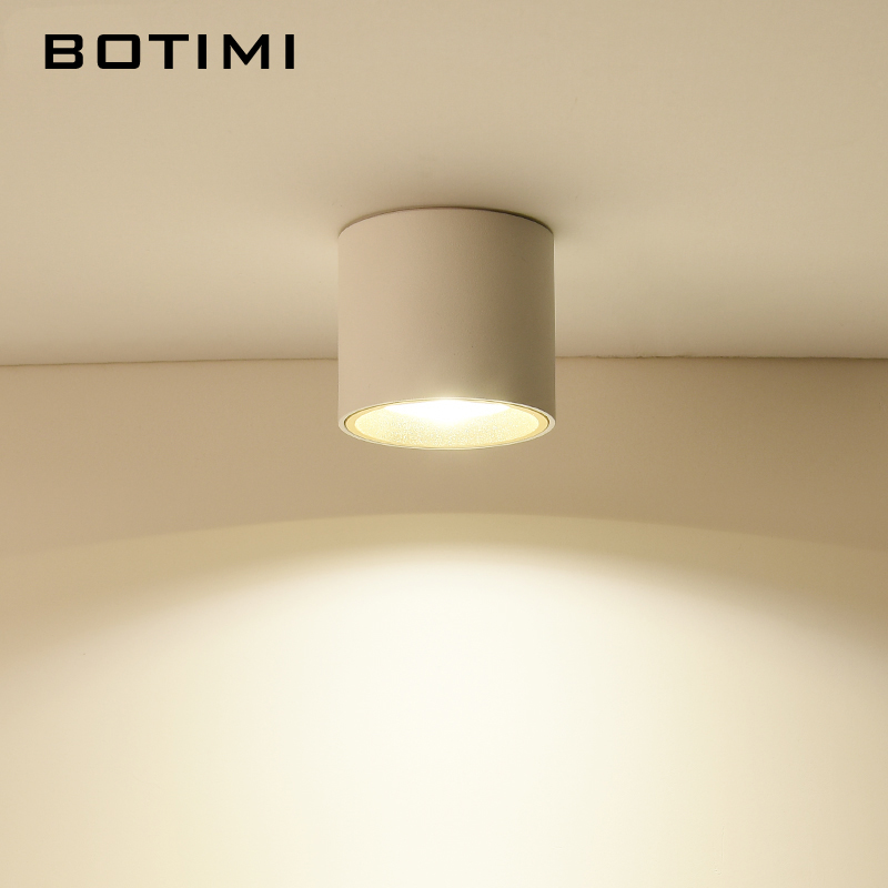 BOTIMI 220V LED Ceiling Lights With White Metal Lampshade For Corridor Small Cube Shape Kitchen Ceiling Mounted Lighting FixtureBOTIMI 220V LED Ceiling Lights With White Metal Lampshade For Corridor Small Cube Shape Kitchen Ceiling Mounted Lighting Fixture