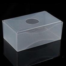 BLEL Chaude 10 X Carte De Visite Bote En Plastique Titulaires Effacer Artisanat Perles Stockage Conteneurs Botes Blanc