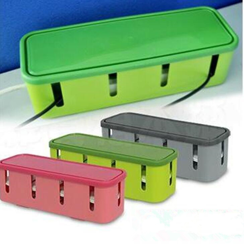 Practical Plastic Rectangle Power Strip Cord Socket Storage Box Organizer Safety Socket Outlet Board Container Case Accessories
