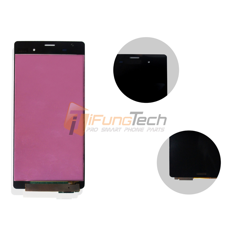 OEM 100% Test For sony Z3 LCD display screen & touch screen digitizer Black and white free shipping 10PCS