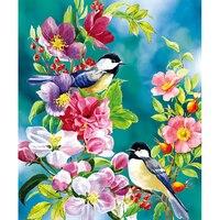 Handicrafts Magpie 5D DIY Diamond Painting Cross stitch Diamond Embroidery Bird flower Mosaic pattern Home art  wall decor