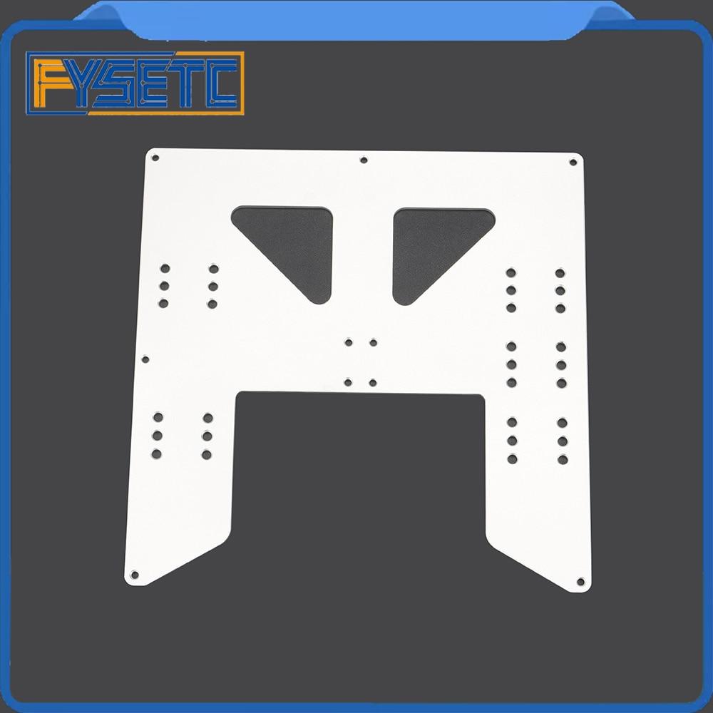 Prusa I3 Anet A8 A6 3D Actualización de impresora Y Carriage placa de aluminio anodizado para A8 Hotbed soporte para Prusa I3 anet A8 3D impresoras