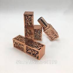 Золотой бальзам для губ трубка мм 12,1 мм DIY пустой элегантный трубчатая помада контейнер Высокая мода бальзам для губ контейнер 40 шт./лот
