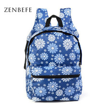 ZENBEFE Oxford Backpack Durable Women Backpack Teenagers Printing Backpacks For Girls Multifunction School Bag For Computer