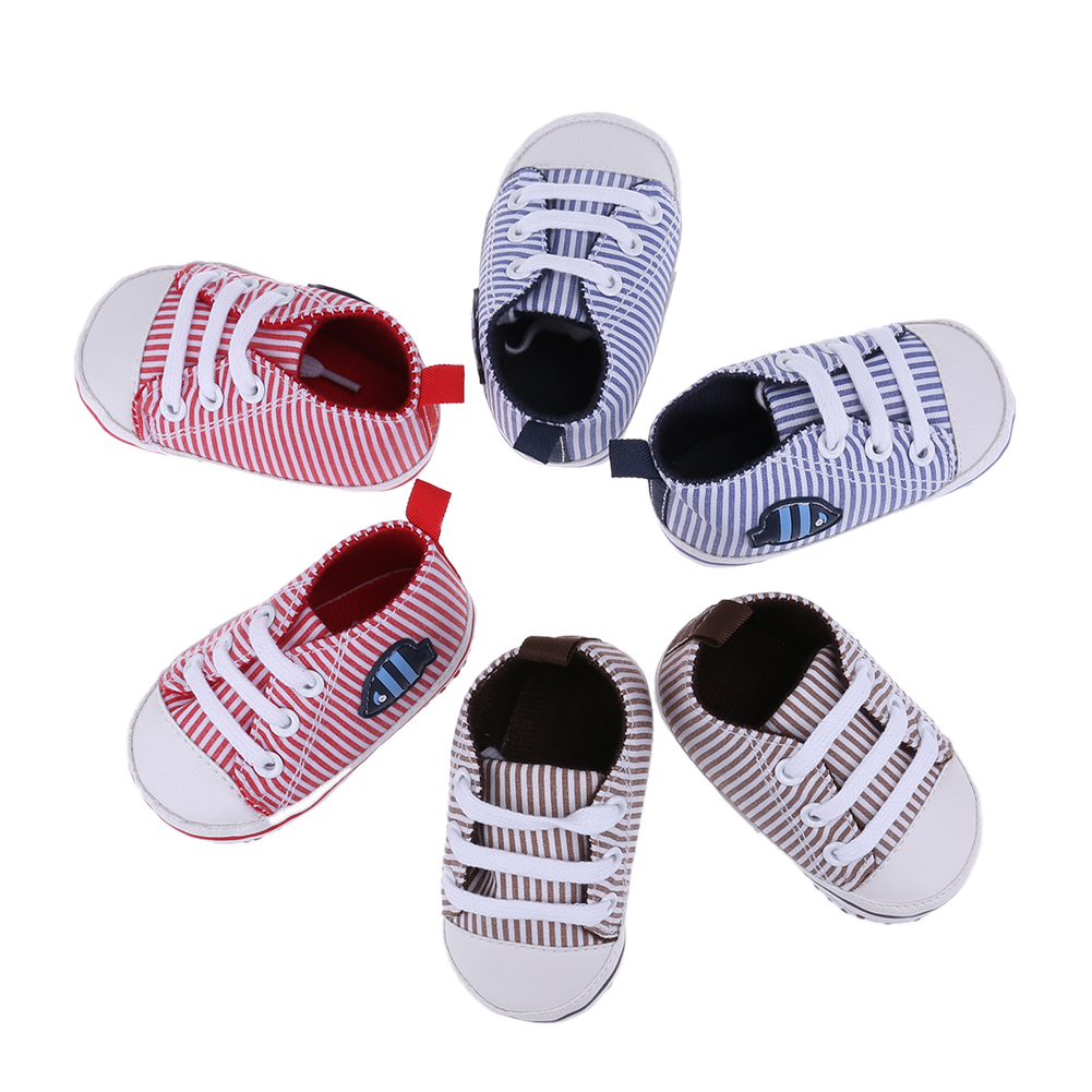 Infant 0-18M Toddler Canvas Sneakers Kids Baby Boy Girl Soft Sole Crib Shoes First Walkers Prewalkers