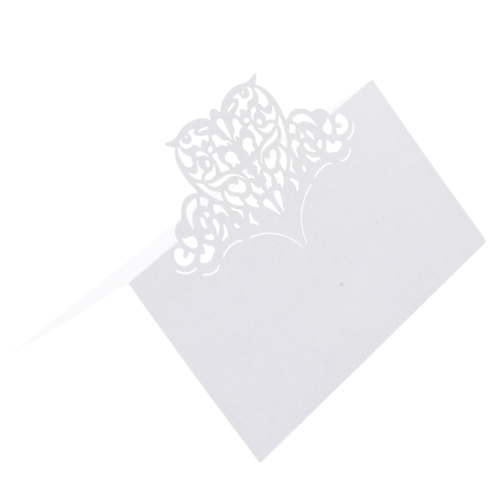50Pcs/set Wedding Table Card Laser Cut Carved Heart Pattern Name Place Card Wishing Mard Card Wedding Banquet Birthday Supply 1 design laser cut white elegant pattern west cowboy style vintage wedding invitations card kit blank paper printing invitation