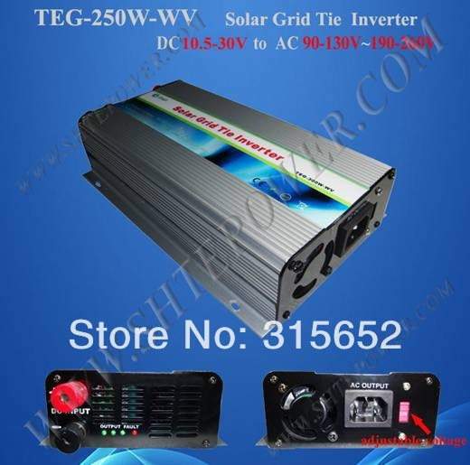 250W Grid Tie Solar Power Inverter DC 10.5V-30V To AC 220V maylar 22 60vdc 300w dc to ac solar grid tie power inverter output 90 260vac 50hz 60hz
