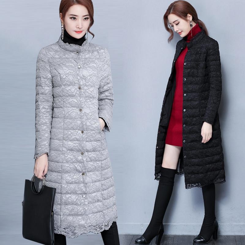 Fashion Winter Jacket Women 2017 Slim Warm Female Jacket Cotton Coat Parkas Jaqueta Feminina Inverno Long Lace Coat Plus Size