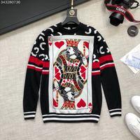 Новинка 2018 Высокое качество модные свитера для подиума летние человек Роскошные брендовые Мужская одежда A09239