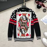 2018 new High Quality fashion Sweaters Runway Summer man Brand Luxury Men's Clothing A09239