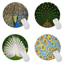 MaiYaCa Peacock Round 200*200*2mm Mouse Pad Mousepad Computer PC Laptop Comfort Gaming Mouse Pad