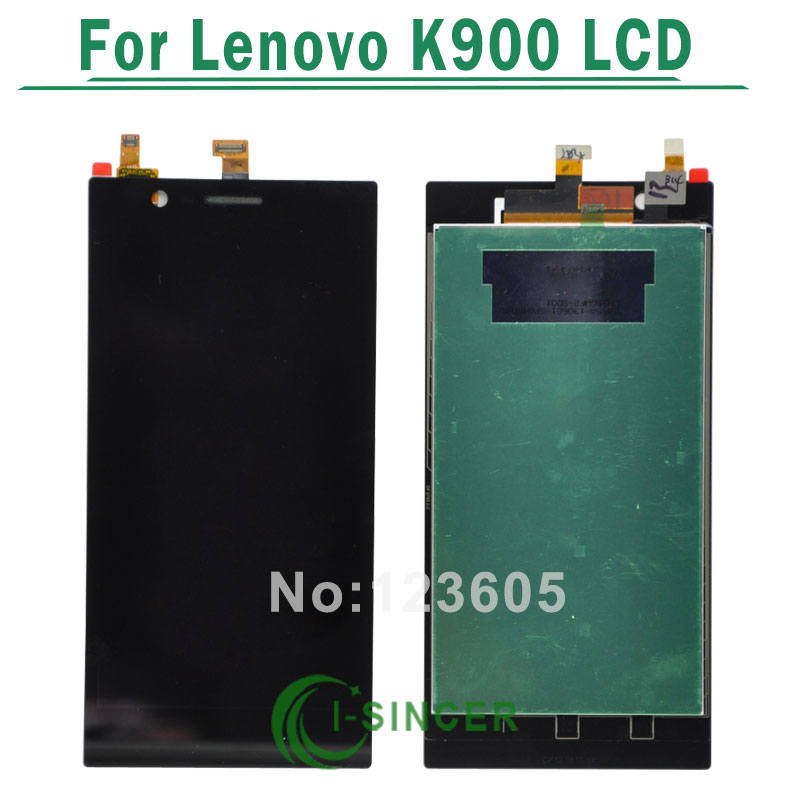 1/PCS For Lenovo K900 LCD Display Screen Touch Digitizer Assembly black color Free Shipping