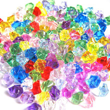 200Pcs Slime Filler Charms Acrylic Simulated Ice Cube Crystal Stone Transparent Decoration For DIY Slime Supplies Lizun Toy Kid(China)