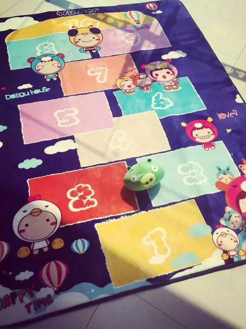 Large Size 150*195 Kids Rug with Hopscotch Game Cartoon Carpet Baby Crawling Mat Children Best Loved Rug and Carpet Floor Mat
