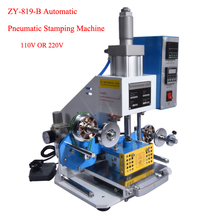 ZY-819-B Automatic Pneumatic Stamping Machine leather LOGO Creasing machine,High speed name card Embossing machine
