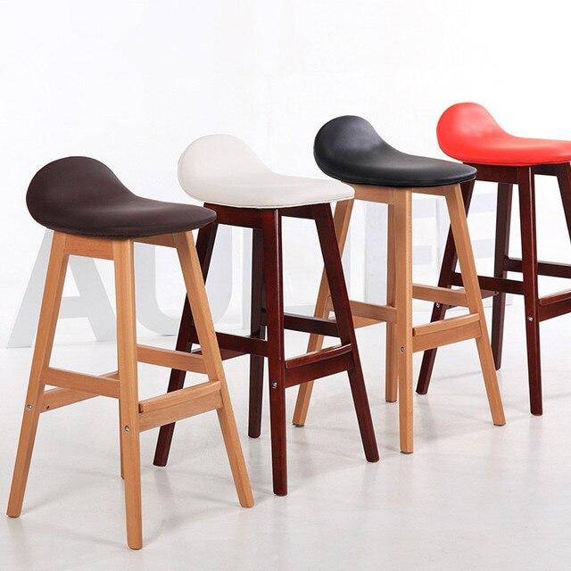 Taburete de madera Vintage para Bar, taburete, silla de comedor ...