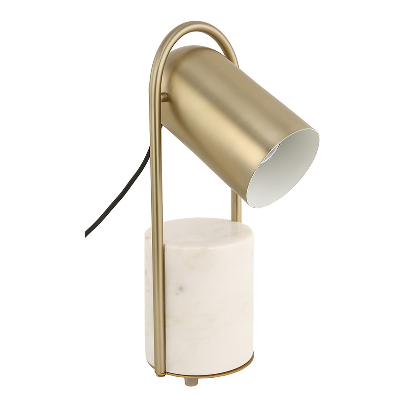 Nordic post modern desk Lamp marble holder creative metal table Lamp Reading Lamp LED lamp Study living room home art decoration