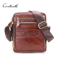 CONTACT S HOT Men S Messenger Bag 2017 Spring New Arrival Genuine Leather Shoulder Bag Handbags