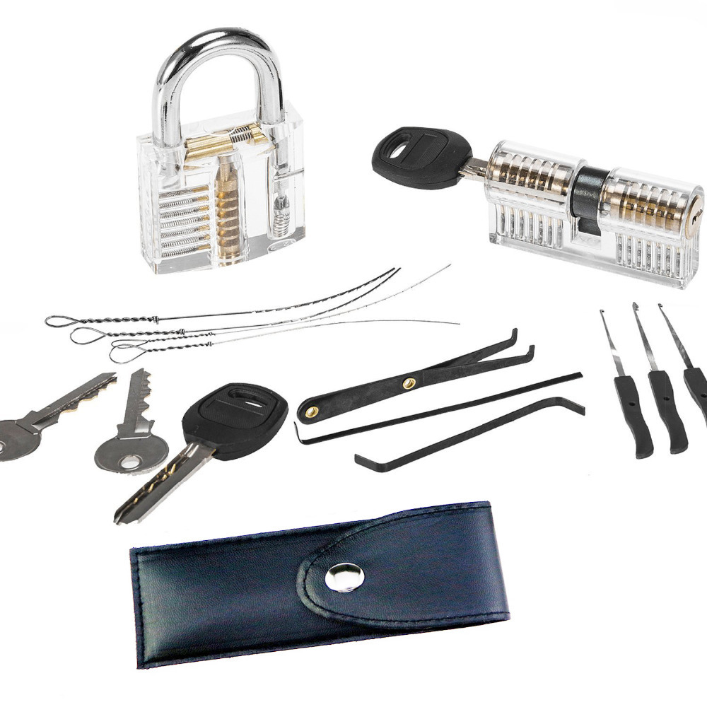 Free Shipping 4 in 1 Locksmith Super Training Kit ,Padlock Double-end Lock 10pcs Remove Key ToolsFree Shipping 4 in 1 Locksmith Super Training Kit ,Padlock Double-end Lock 10pcs Remove Key Tools