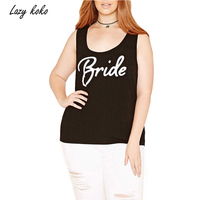 Kissmilk Plus Size New Fashion Women Clothing Square Collar Slim Letter Print Tops Big Size Tank