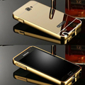 Espelho de luxo Híbrido case para Samsung Galaxy Note N7000 1 I9220 7000 9220 moldura De Alumínio De Metal Duro Protetor tampa traseira