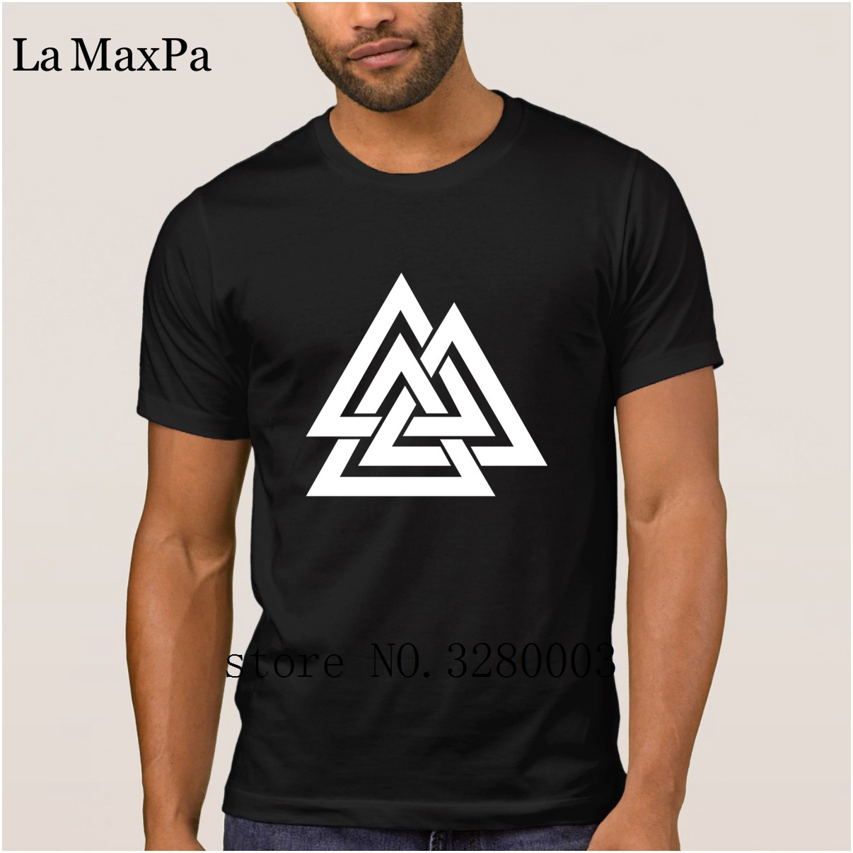 Breathable men t shirt valknut wotan's knot odin walhalla asgard t-shirt Summer Style Letters tshirt for men cool Top Quality