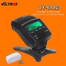 Viltrox JY-610C Мини ЖК Ttl-вспышки Speedlite + Диффузор + Подставка для Canon 800D 760D 70D 700D 650D 600D 60D 5D 7D 1200D DSLR