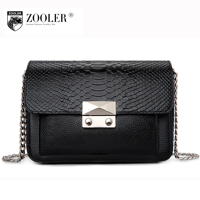 ZOOLER Women Flap Genuine Leather Crossbody Bag 2018 Spring Female Mini Chains Messenger Bag All Match Evening Clutches Bags women genuine leather character embossed day clutches wristlet long wallets chains hand bag female shoulder clutch crossbody bag