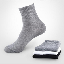 J-BOX Casual Business Socks For Men Cotton Crew Black White Gray Long Male 10 pairs