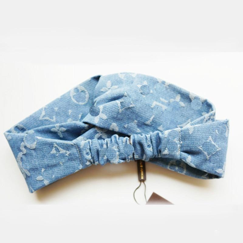 Bohemian Headwrap Boho Elastisk tjej Huvudband Blue Stretch Headband - Kläder tillbehör - Foto 4