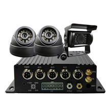 Free Shipping 4CH 256G SD 3G GPS Track Car DVR H.264 Phone View Video Recorder IR SONY 600TVL Car Camera Kit for Truck Van Bus