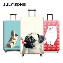 JULY'S SONG Elastic Thickest Travel Luggage Suitcase Protective Cover Apply to 18''-32''Trolley Case Suitcase Travel Accessories недорого