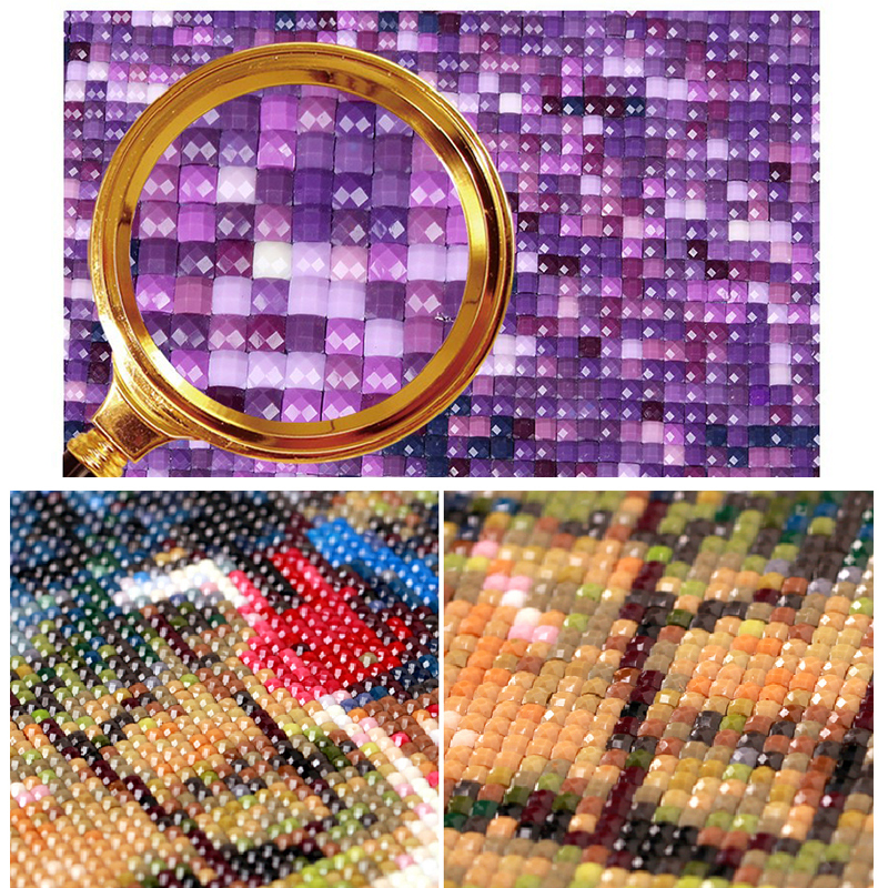 Full Square 5D DIY Diamond Painting Wolf dog Embroidery Cross Stitch Mosaic Home Decor Gif CJ4