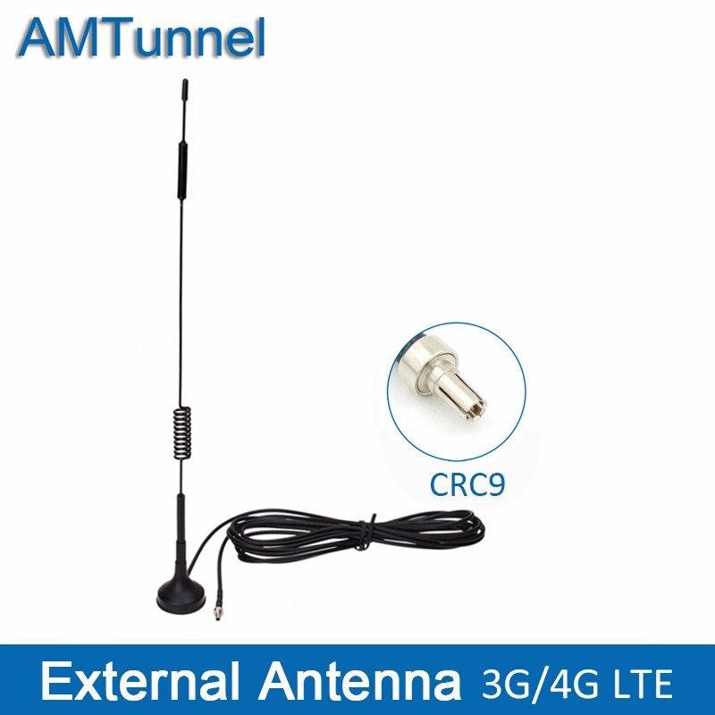 2pcs 10dbi 4G LTE Antenna SMA Male Modem Router Huawei Magnetic Base RG174 3M