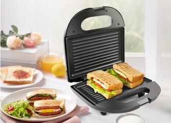 Electric Egg Sandwich Maker Mini Grilling Panini Baking Plates Toaster Multifunction Non-Stick waffle Breakfast Machine EU 2