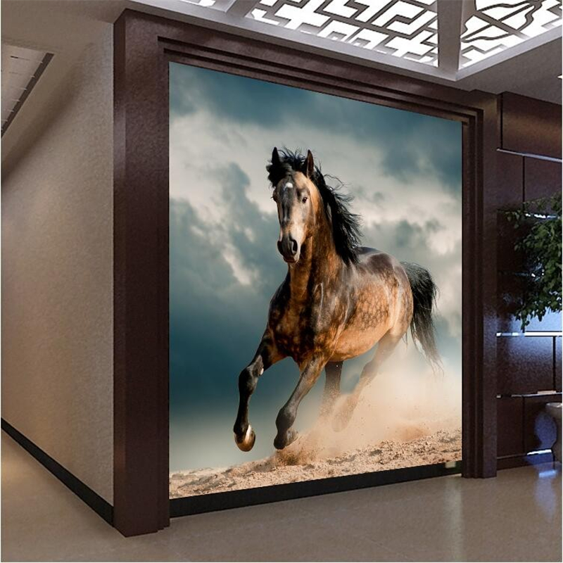 Beibehang high quality mural horse photo 3d wallpaper for Equestrian wall mural