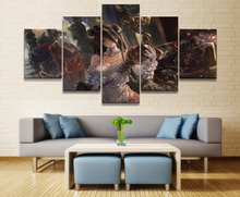 Overlord Anime 5 Piece HD Print Wall Art Canvas For Living Room Decor Painting Modern Home Artwork
