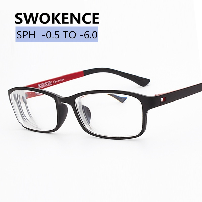 SWOKENCE -0.5 -1 -1.5 -2 -2.5 -3 -3.5 -4 -4.5 -5 -5.5 -6 Diopter Myopia Glasses Finished Women Men Shortsighted Glasses F168