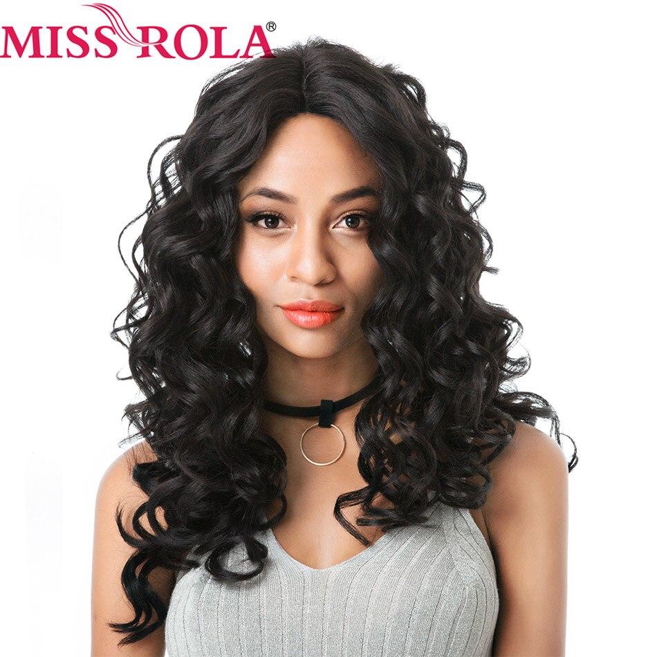 Miss Rola perruque avant en dentelle synthétique 22 pouces perruque longue lâche vague Ombre partie complète perruques pour les femmes noires Cosplay perruque violet