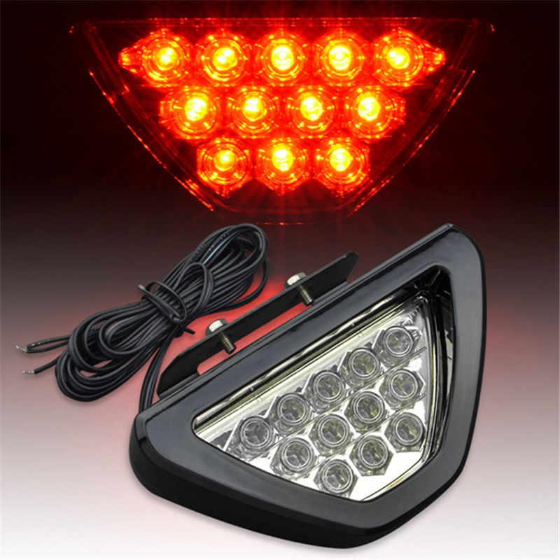 Merah Universal Cocok Mobil Styling 12V LED DRL Belakang Ekor Rem Stop Lampu Sepeda Motor Berkedip Peringatan Parkir Lampu Kabut f1 Gaya